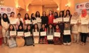 The U.S. Embassy and iEARN Pakistan staff welcome home 19 female Pakistani students who recently participated in the Summer Sisters Exchange Program at U.S. universities.
